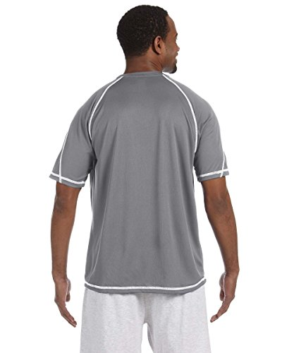 Champion 4.1oz Double Dry® T-Shirt mit Geruch Widerstand Gr. xl, Grau - Grau - Stone Gray