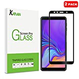 [2 Pack] KATIAN Compatibe Samsung Galaxy A7 2018 Screen Protector, HD Full Coverage Protector[Anti-Scratch] [No-Bubble] [Case-Friendly], 9H Tempered Glass Screen Film for Samsung Galaxy A7 2018[Black]
