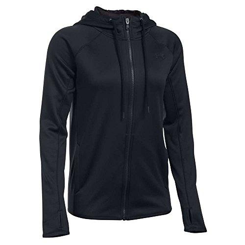 Under Armour Women's Storm Armour Fleece Lightweight Full Zip Hoodie, Black (001), Large