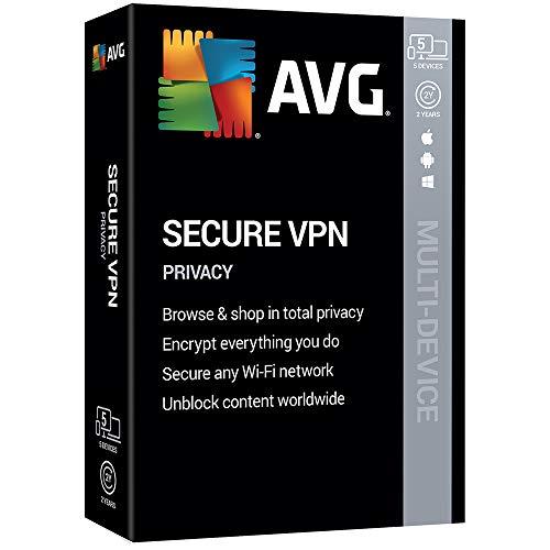 AVG Technologies AVG Secure VPN 2020, 5 Devices 2 Year 2020