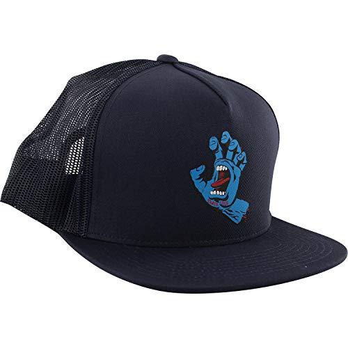 - Santa Cruz Skateboards Screaming Hand Front Navy/Black Mesh Trucker Hat - Adjustable