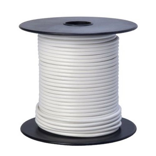 Southwire 55667923 Primary Wire, 16-Gauge Bulk Spool, 100-Feet, White (White Electrical Wire)