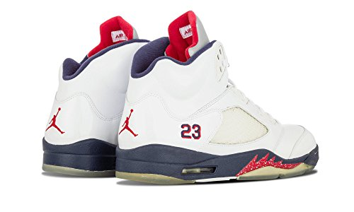 Jordan Air Jordan V Retro, White/Varsity Red/Navy WHITE/VARSITY RED/NAVY
