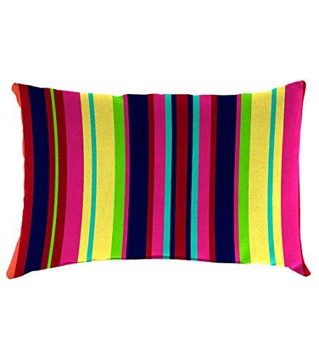 Classic Polyester Decorative Outdoor Lumbar Throw Pillow, 19'' x 12'' x 5.5'' - Fiesta Stripe