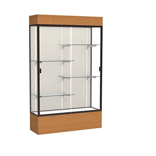 Waddell Frame Aluminum (Reliant Lighted Wood Veneer Floor Display Case, 48