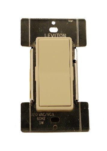 - Leviton MS00R-10A 120 Volt AC 60Hz, 3-Way, Mural Digital Rocker Remote, Almond