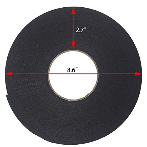 PE Foam Double-Sided Adhesive Tape -Outdoor and Indoor Super Strong Foam Seal Strip for Automotive Mounting,Weatherproof Decorative and Trim,Car Trim Strip,Photo Frame (Wide 2 in Long 33 Ft) Photo #2