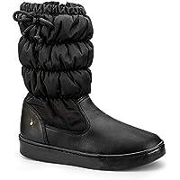 Bota Infantil Bibi Feminina Preta Com Laço Urban Boots 1087011