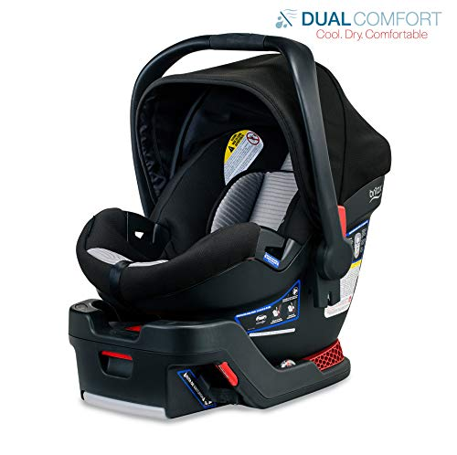 Britax B-Safe 35 Infant Car Seat – 4 to 35 Pounds – Rear Facing – 1 Layer Impact Protection – Dual Comfort Moisture Wicking and Ventilating Fabric, Grey