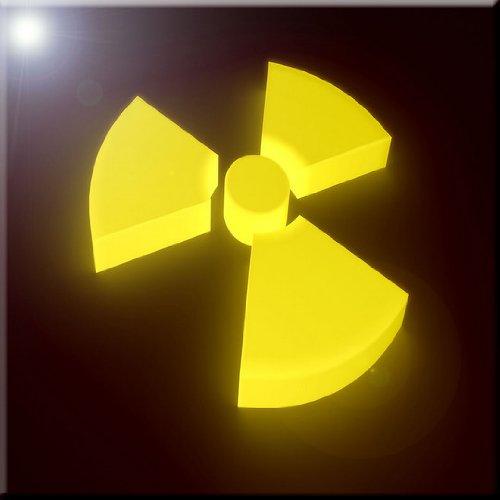 6 x 6 Rikki Knight Yellow Glow 3D Radioactive Sign Design Ceramic Art Tile