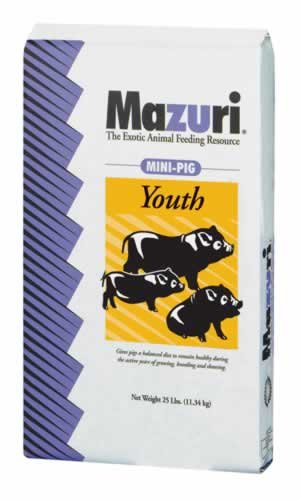 Mazuri Mini Pig Youth Diet Pig Food, 25 lb Bag by Mazuri