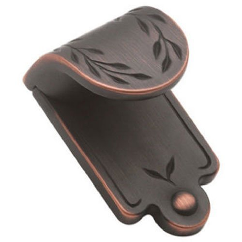 Amerock BP1583ORB Inspirations Leaf Finger Pull, Oil Rubbed Bronze, 1-7/8-Inch Wide by ()