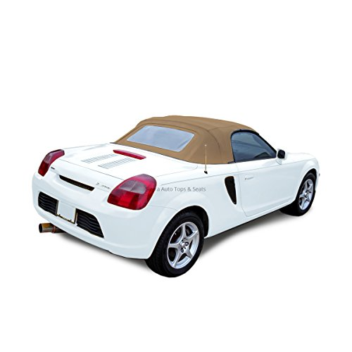 Toyota MR2 Convertible Top 2000-2007, Twill Grain Vinyl, Heated Glass Window Tan/Saddle (Convertible Top Hold Down Cables)