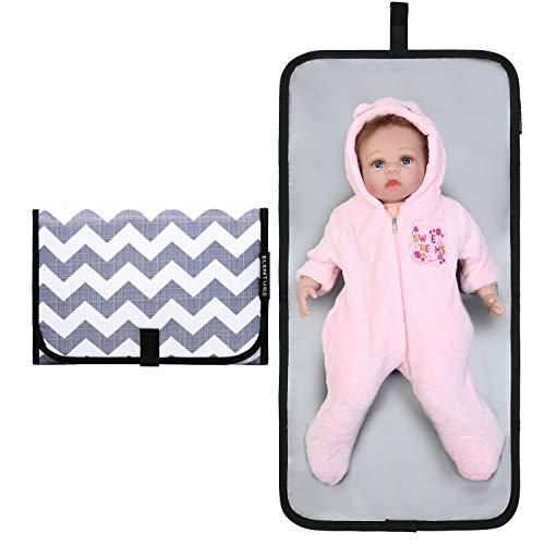 - ELENTURE Diaper Changing Pad, Baby Infant Portable Travel Changing Station Mat Bag (Wave(mat))