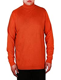 Mens Mock Turtleneck Sweater Slim Fit Knitted Pullover (S-XXL)