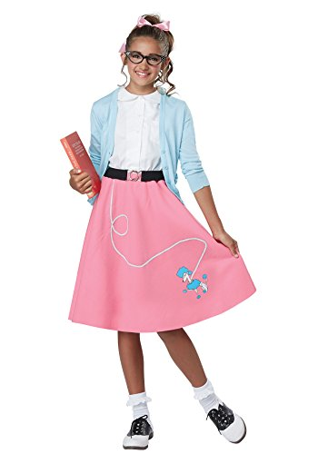 Girls 50's Pink Poodle Skirt Costume size XS 4-6