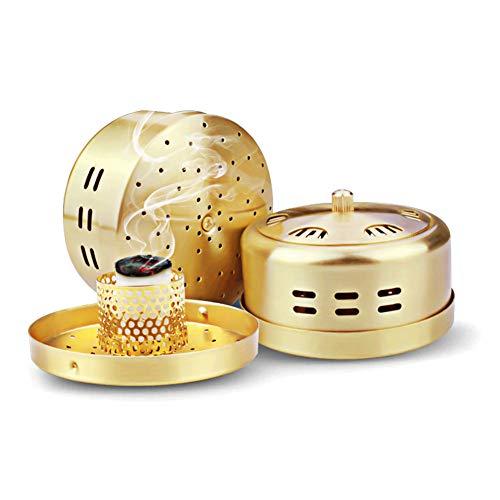 - Portable Moxa Box 6 Hole,Pure Copper Moxa Stick Burner Pockets,Therapy Moxibustion Heat Treatment Holder Kit(8 * 4.8cm)
