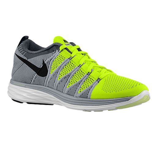 nike flyknit lunar2 mens running trainers 620465 sneakers shoes (uk 9 us 10 eu 44, volt black wolf grey dark grey 700)