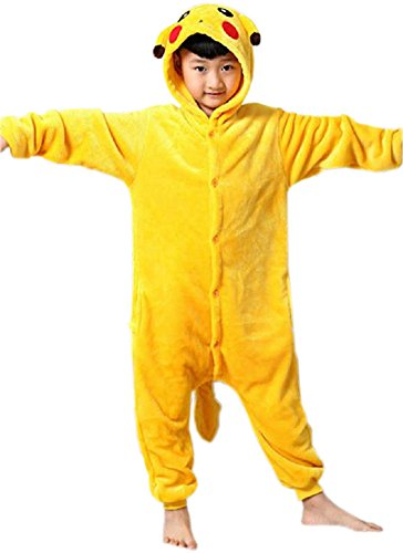 bettyhome Kids Unisex Kigurumi Picacho Xmas Pajamas Onesie Costume (95#(height:39