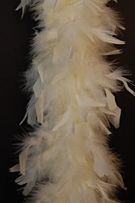 "80 Gram Chandelle Feather Boa - IVORY 2 Yards (72"" Boa)"