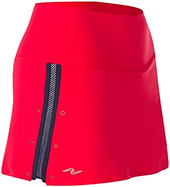 Naffta Tenis Padel - Falda-Short para Mujer, Color Rojo/Marino ...