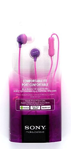 Comfortable Wired Earbuds Purple MDREX15AP product image
