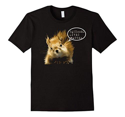 Mens Squirrel lives matter tshirt Funny gift for Squirrel Fan Large Black