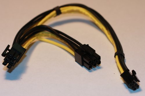 PCIe PCI-e Dual 6 pin Power Cable for Mac G5 nVidia ATI Video Card - High Quality