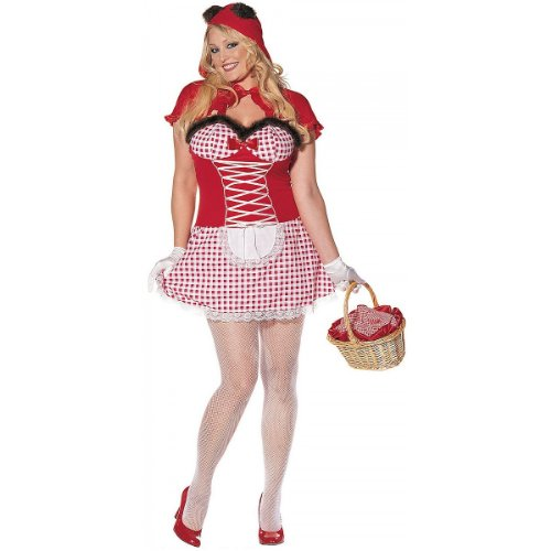 Plus Size Hollywood Fancy Dress Costumes (Bad Riding Hood Adult Costume - Plus Size 1X/2X)