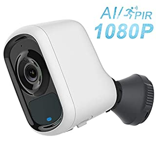 Wireless Security Camera,FUVISION Outdoor Camera Wireless 1080P with Customizable Motion Detect,Sound Alarm,Intelligent AI for Human Pet Vehicle Motion Alarm,2-Way Audio,Night Vision Cloud Camera