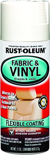 Rust-Oleum 248922 Automotive Fabric & Vinyl Spray Paint, 11-Ounce, Gloss White (Couch For Spray Leather Paint)