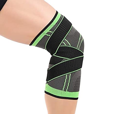 df90f3cdbf Amazon.com: Dunnomart 3D Pressurized Fitness Running Cycling Bandage Knee  Support Braces Elastic Nylon Sports Compression Pad Sleeve Ship Today:  Kitchen & ...