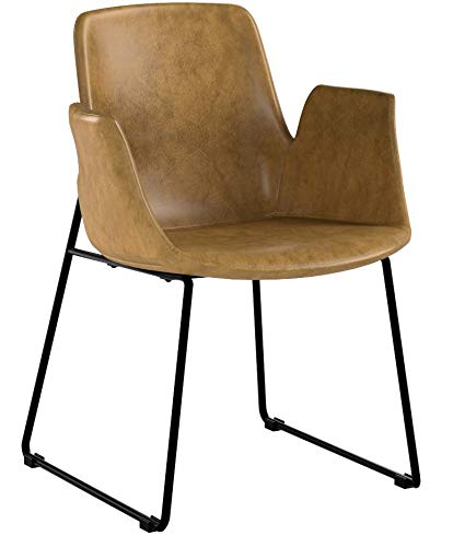 Modway EEI-1806-TAN Aloft Mid-Century Modern Leather, Dining Armchair, Tan by Modway (Image #6)
