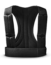 Apark Hållningskorrigerare för män och kvinnor, justerbar andningsbar övre ryggstödsrem som ger smärtlindring för nacke, ryggrad, rygg, axlar, förbättrar hållningen och ger ryggstöd