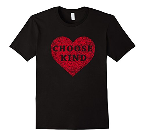 Mens Choose Kind Heart T-Shirt Large Black