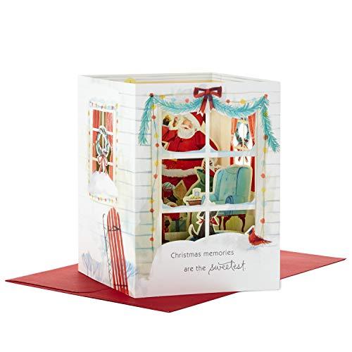 Hallmark Paper Wonder Pop Up Holiday Card (Santa Scene Pop Up)