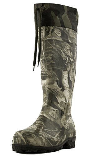 "Purchase Alisa Men's 16"" Insulated Hunting Camo Waterproof Rubber Boots"