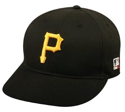 2013 Adult FLAT BRIM Pittsburgh Pirates Home Black Hat Cap MLB Adjustable