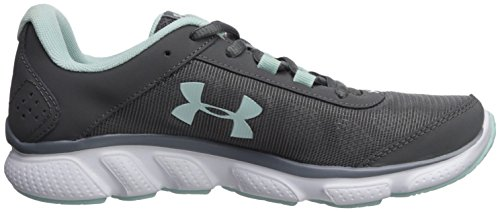 Under Armour Women's Micro G Assert 7, Black/White/White, Graphite (102)/White