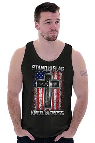 Stand Flag Kneel Cross Christian American Tank Top Black