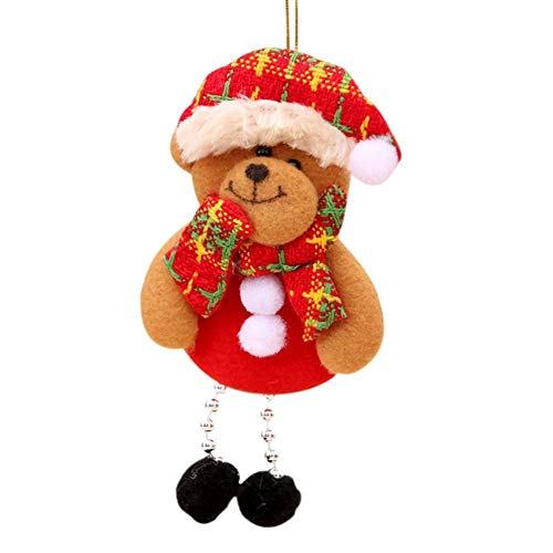 Brave669 [Christmas Decoration]-Christmas Santa Deer Snowman Ornament Holiday Party Xmas Tree Hanging Decoration,Christmas -