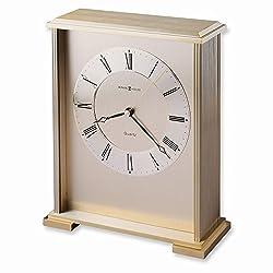 Jewelry Adviser Gifts Exton Brass Finish Quartz Table Clock