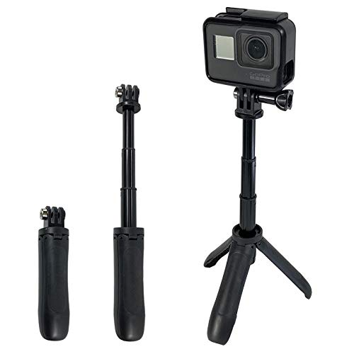 YANTRALAY SCHOOL OF GADGETS 9 Inch Shorty Mini Extension Pole Extendable Monopod Tripod for Hero 7/6/5, SJCAM, Yi and More Action Cameras (Black)