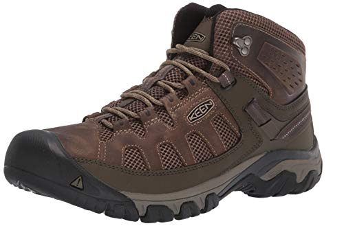 KEEN Men's Targhee Vent MID Hiking Boot, Olivia/Bungee Cord, 11 M US