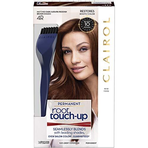 - Clairol Nice 'n Easy Permanent Root Touch-Up, 4R Dark Auburn/Reddish Brown 1 Kit (Pack of 4)