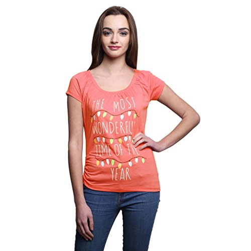 Espresso Women's Printed Raglan Sleeve Top with Side Gathering