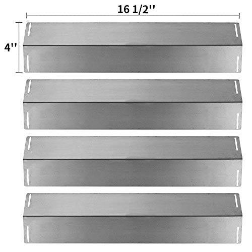 SHINESTAR Grill Heat Shield Replacement for BBQ Grillware GGPL2100, Charbroil 463211511, 463211512, 463211513, 463211514, 463211711, Master Forge GGP-2501, 4 Pack 16.5