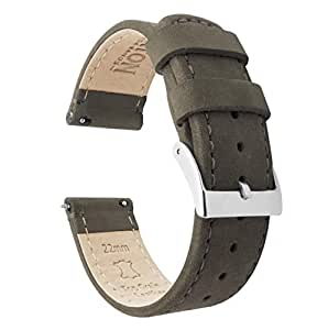 Barton Quick Release Top Grain Leather Watch Band Strap - Choose Color - 16mm, 18mm, 20mm, 22mm or 24mm - Espresso 16mm