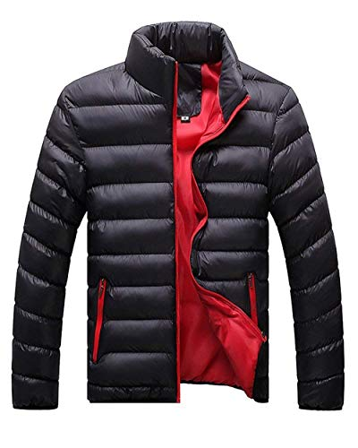 Coat Fashion Pockets Jacket Stand Men BOLAWOO Collar Outwear Outerwear Men Side Sleeve Schwarz Jackets Long Brands Jacket Down 5PF6z6xq