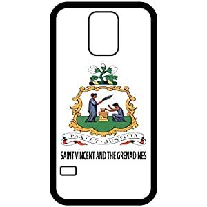 Saint Vincent And The Grenadines - Coat Of Arms Flag Emblem Black Samsung Galaxy S5 Cell Phone Case - Cover